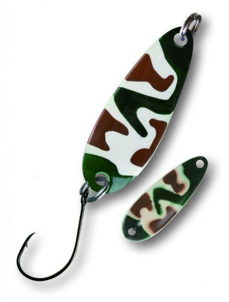 Trout Spoon VII 3,6g camou/weiß/grün/braun