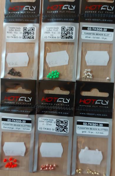Tungstenperlen 3mm geschlitzt
