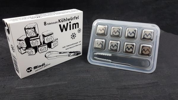 """Kühlwürfel """"WIM"""" 8 Stück plus Eiszange Ice Cubes"""