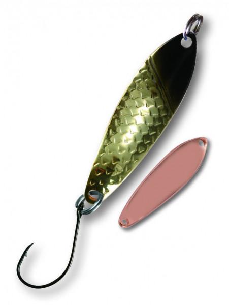 Trout Spoon X 4,3g schwarz/gold-kupfer