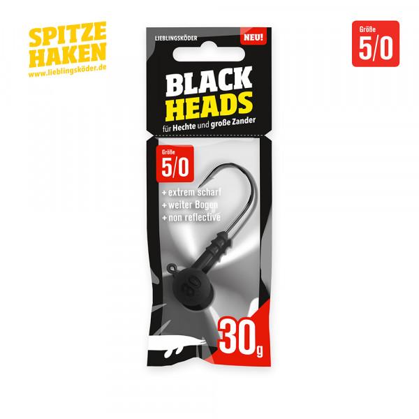 Spitze Haken 5/0 - 30gr Blackhead