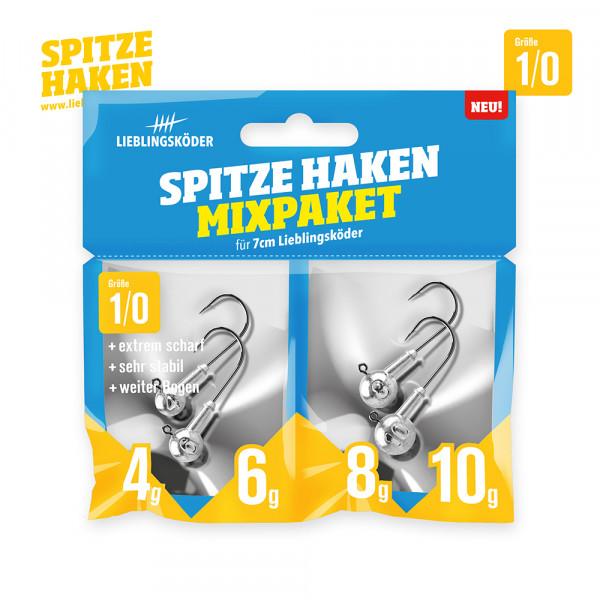 Spitze Haken 1/0 - Mixpaket