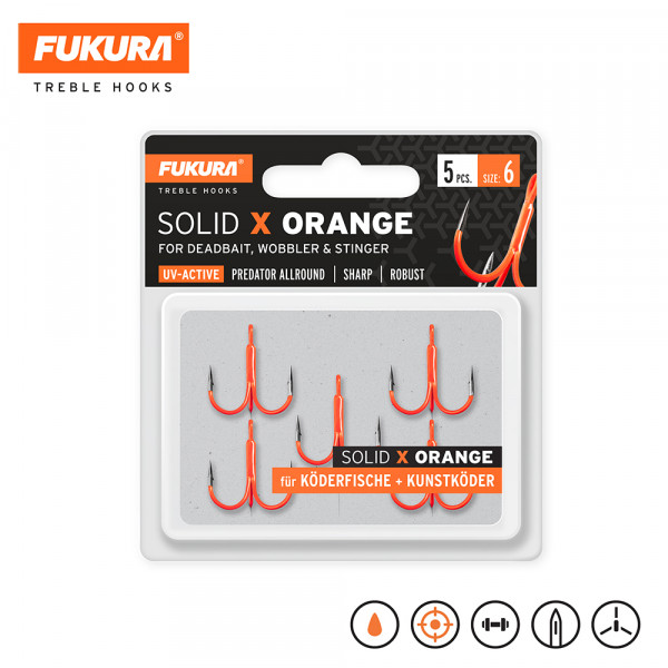 Fukura Solid X Orange Gr. 6