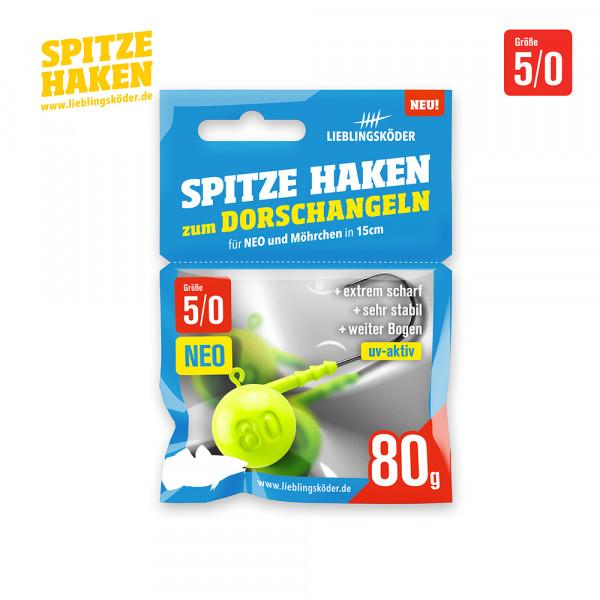 Spitze Haken 5/0 - 80gr Neo