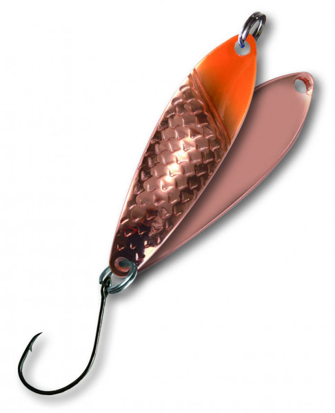 Trout Spoon X 4,3g orange/kupfer-kupfer