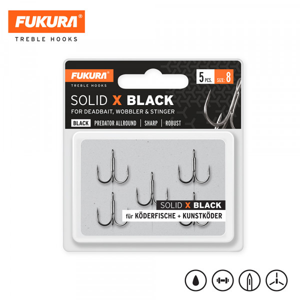Fukura Solid X Black Gr. 8