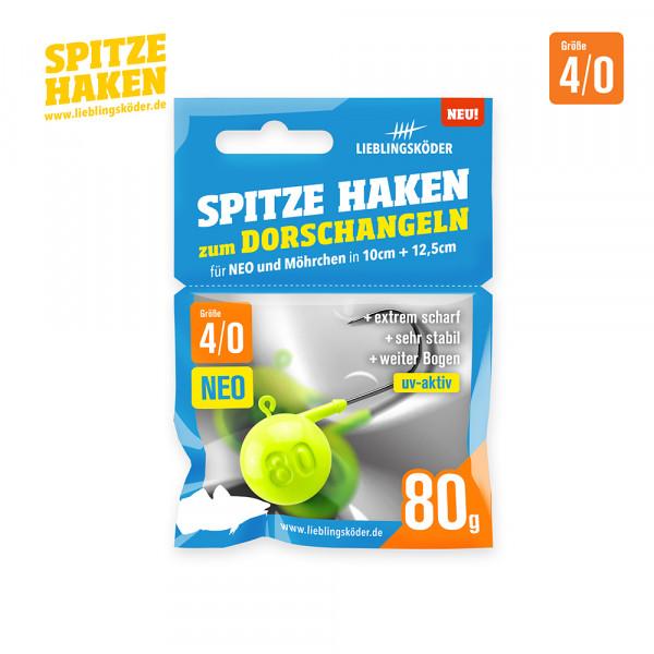 Spitze Haken 4/0 - 80gr Neo