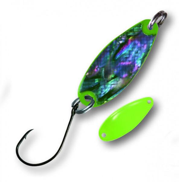 Trout Spoon Pearl L 1,6g Perlmut-neongrün